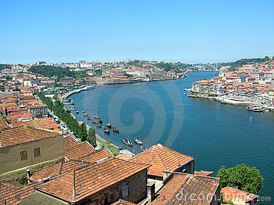 Porto s river Douro in Portugal