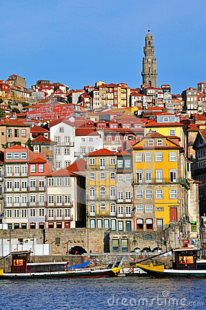 Porto skyline, vertical shot Editorial Stock Photo