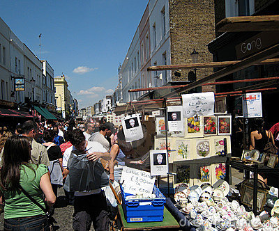 Portobello Road Antique Market Editorial Photography