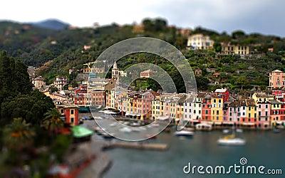Portofino Genoa tilt shift miniature