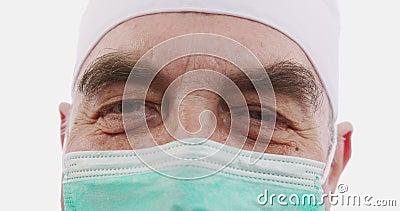 Porträt eines Arztes oder Chirurgen Konzept: Arzt, Patientenversorgung, Gesundheit und Wellness in Krankenhäusern oder Privatklin stock video