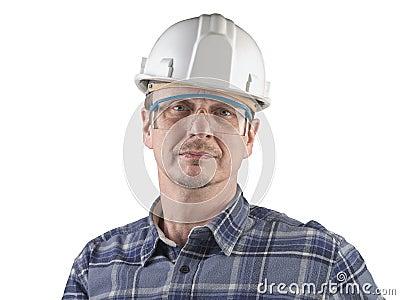 Porträt eines Technikers getrennt