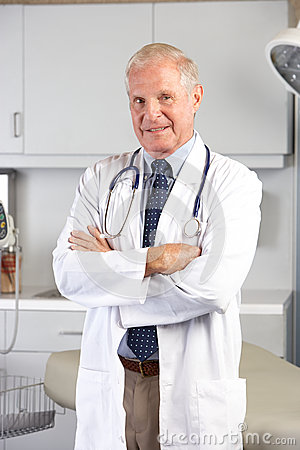 Porträt von Doktor In Doktor Office