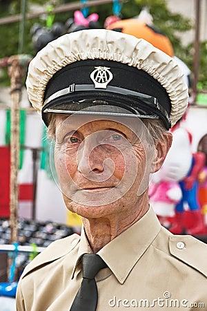 Portrait of AA Patrolman Editorial Stock Photo