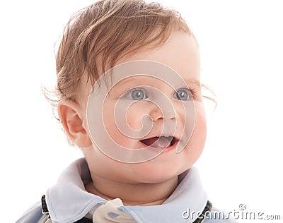 Portrait of adorable blue-eyes baby boy