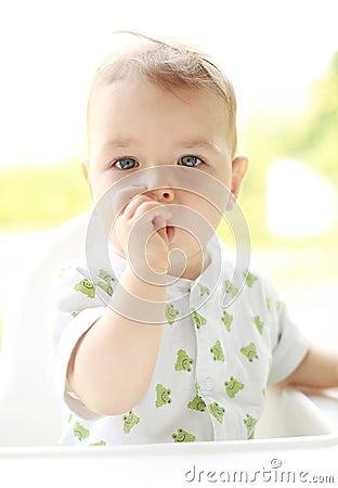 Portrait of an adorable child