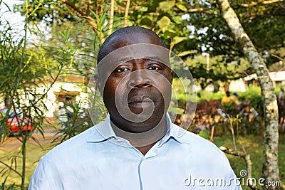 Portrait of African black man