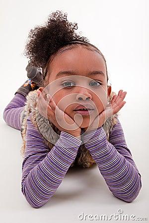 Portrait of a african little girl
