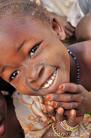 Portrait of african little girl wearing jewlery Editorial Stock Image