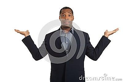 Portrait african man on white background