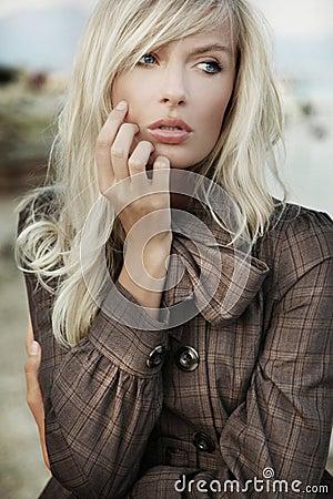 Portrait of amazing blonde girl