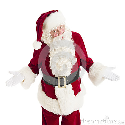 Portrait Of Angry Santa Claus Gesturing
