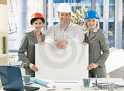 Portrait of architect team