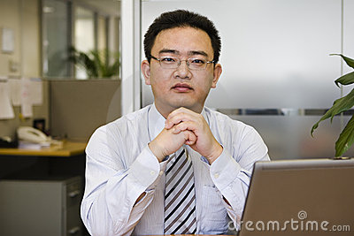 Portrait of asian business executive
