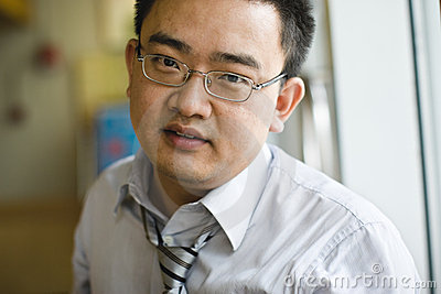 Portrait asian businessman