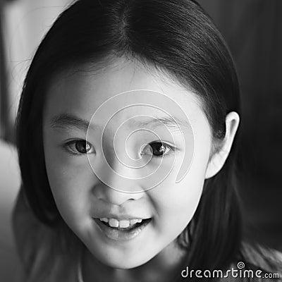 Portrait asian child