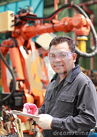 Portrait of asian engineer
