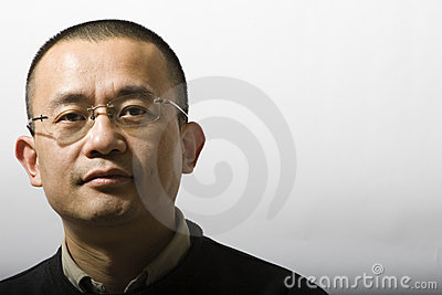 Portrait of asian man