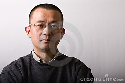 Portrait asian mid-adult man