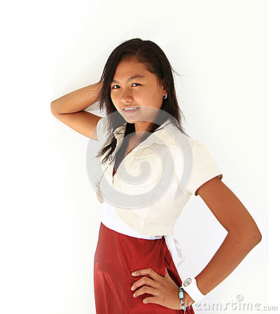 Portrait of Asian teen