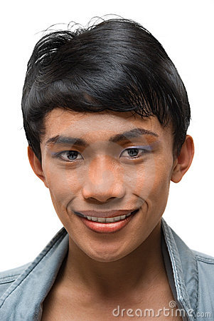 PORTRAIT OF ASIAN YOUNG MAN WITH EMO MAKEUP (click image to zoom)