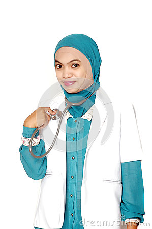 Portrait of Asian young woman doctor