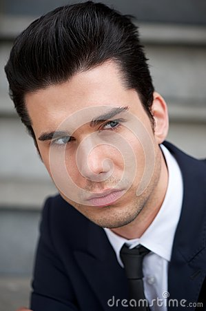 Portrait of an attractive male business person