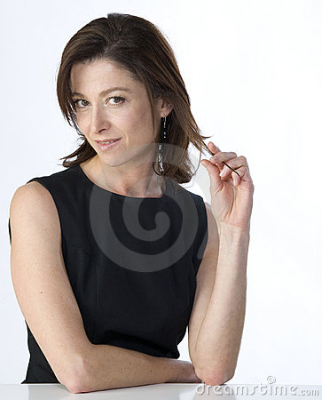 Portrait of attractive mature woman
