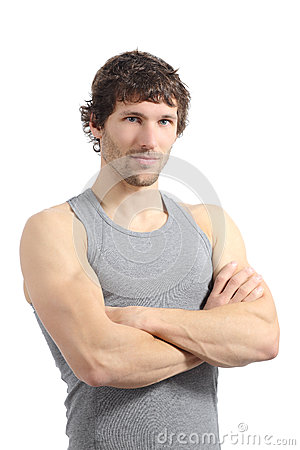 Portrait of an attractive sportsman posing
