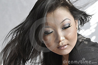 Portrait of attractive young asian woman