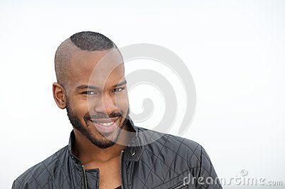 Portrait of an attractive young black man smiling