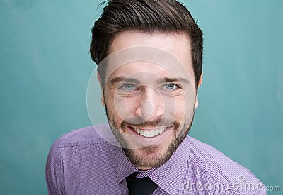 Portrait of an attractive young business man smiling