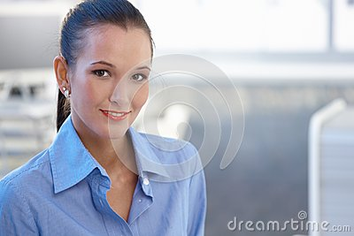 Portrait of attractive young businesswoman