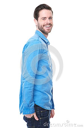 Portrait of an attractive young caucasian man smiling