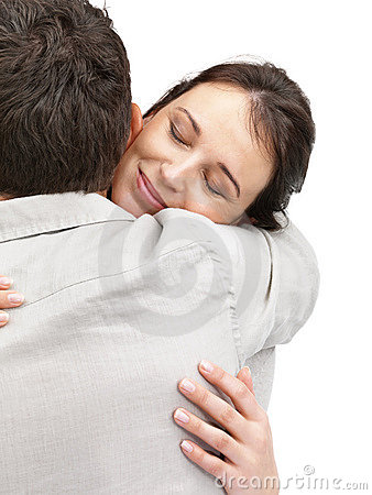 Portrait of a attractive young couple hugging each
