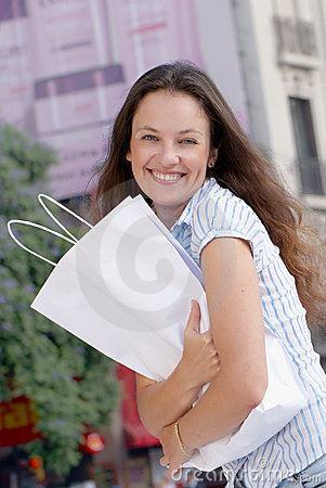 Portrait of an attractive young women out shopping