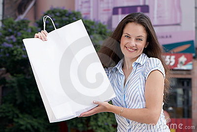 Portrait of an attractive young woman out shopping