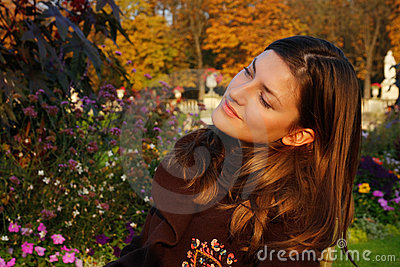 Portrait in autumn colors