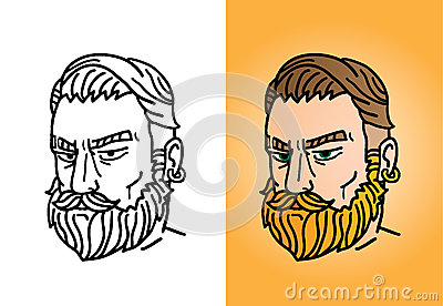 Portrait of a bearded man with a stylish haircut