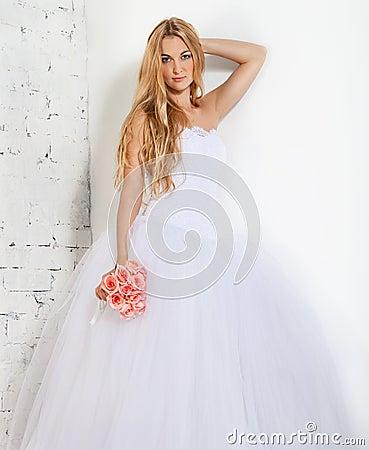 Portrait of a beautiful blond bride