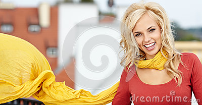 Portrait Of Beautiful Blonde