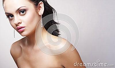 Portrait of beautiful brunette