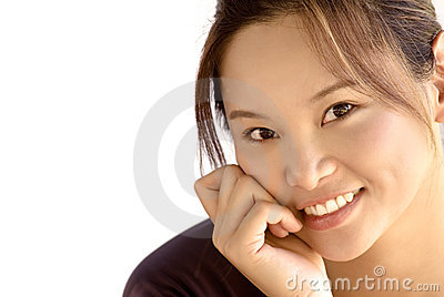 Portrait of a beautiful eastern young lady smiling