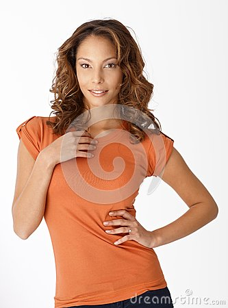 Portrait of beautiful ethnic woman