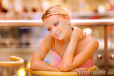 Portrait of beautiful fair-haired girl
