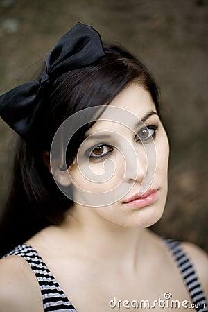 Portrait of beautiful female