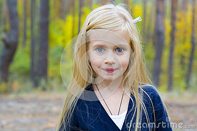 Portrait of beautiful five-year-old girl