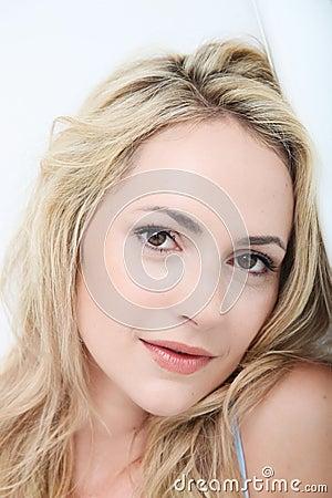 Portrait of a beautiful gentle woman