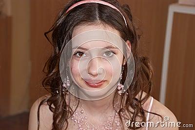 Portrait of beautiful girl. Beauty contest