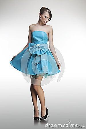 Portrait of a beautiful girl in a dress